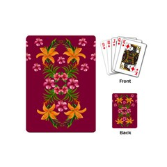 Blossom Yellow Flower Yellow Summer Playing Cards (mini)
