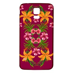 Blossom Yellow Flower Yellow Summer Samsung Galaxy S5 Back Case (white)