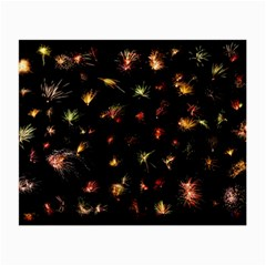 Fireworks Christmas Night Dark Small Glasses Cloth (2 Side)