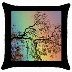 Rainbow Branch Boxer Shorts Throw Pillow Case (black) by Simbadda