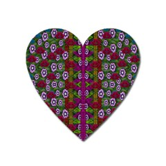 Floral Climbing To The Sky For Ornate Decorative Happiness Heart Magnet by pepitasart