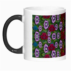 Floral Climbing To The Sky For Ornate Decorative Happiness Morph Mugs by pepitasart
