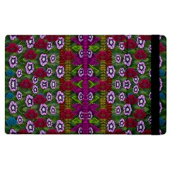 Floral Climbing To The Sky For Ornate Decorative Happiness Apple Ipad 2 Flip Case by pepitasart