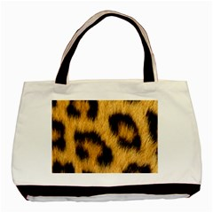 Animal Print Leopard Basic Tote Bag (two Sides) by NSGLOBALDESIGNS2