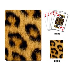 Animal Print Leopard Playing Cards Single Design by NSGLOBALDESIGNS2