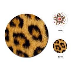 Animal Print Leopard Playing Cards (round) by NSGLOBALDESIGNS2