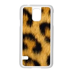 Animal Print Leopard Samsung Galaxy S5 Case (white) by NSGLOBALDESIGNS2