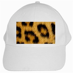 Animal Print Leopard White Cap by NSGLOBALDESIGNS2