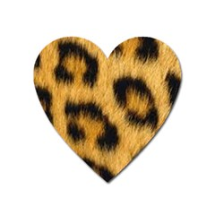 Animal Print Leopard Heart Magnet by NSGLOBALDESIGNS2