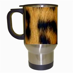 Animal Print Leopard Travel Mugs (white) by NSGLOBALDESIGNS2