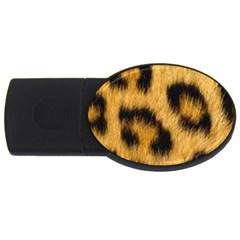 Animal Print Leopard Usb Flash Drive Oval (4 Gb) by NSGLOBALDESIGNS2