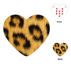 Animal Print Leopard Playing Cards (heart) by NSGLOBALDESIGNS2