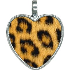 Animal Print Leopard Heart Necklace by NSGLOBALDESIGNS2