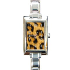 Animal Print Rectangle Italian Charm Watch by NSGLOBALDESIGNS2