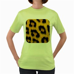 Animal Print Women s Green T-shirt by NSGLOBALDESIGNS2