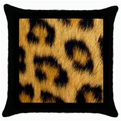 Animal Print Throw Pillow Case (black) by NSGLOBALDESIGNS2