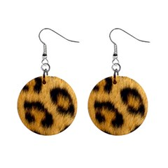 Leopard Print Mini Button Earrings by NSGLOBALDESIGNS2