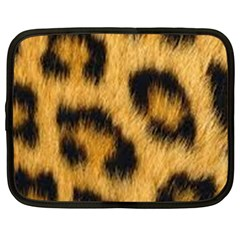 Leopard Print Netbook Case (large) by NSGLOBALDESIGNS2