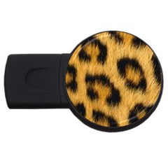 Leopard Print Usb Flash Drive Round (2 Gb) by NSGLOBALDESIGNS2