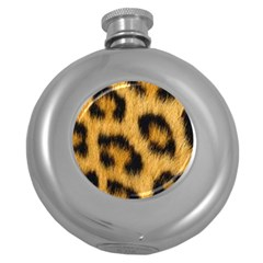 Leopard Print Round Hip Flask (5 Oz) by NSGLOBALDESIGNS2