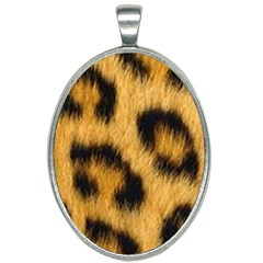 Leopard Print Oval Necklace by NSGLOBALDESIGNS2