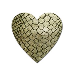 Snake Print Heart Magnet by NSGLOBALDESIGNS2