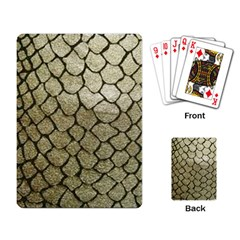 Snake Print Playing Cards Single Design by NSGLOBALDESIGNS2