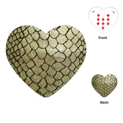 Snake Print Playing Cards (heart) by NSGLOBALDESIGNS2