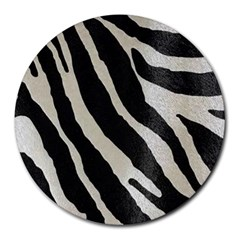 Zebra Print Round Mousepads by NSGLOBALDESIGNS2