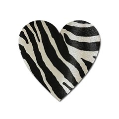 Zebra Print Heart Magnet by NSGLOBALDESIGNS2