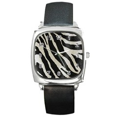 Zebra Print Square Metal Watch by NSGLOBALDESIGNS2