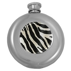 Zebra Print Round Hip Flask (5 Oz) by NSGLOBALDESIGNS2