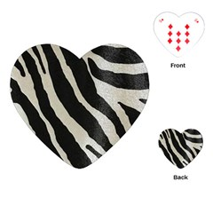 Zebra Print Playing Cards (heart) by NSGLOBALDESIGNS2