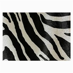 Zebra Print Large Glasses Cloth (2-side) by NSGLOBALDESIGNS2