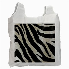 Zebra Print Recycle Bag (two Side) by NSGLOBALDESIGNS2