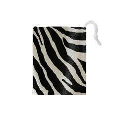 Zebra Print Drawstring Pouch (small) by NSGLOBALDESIGNS2