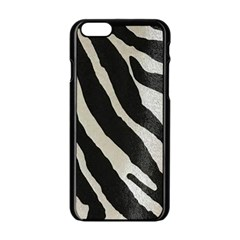 Zebra Print Apple Iphone 6/6s Black Enamel Case by NSGLOBALDESIGNS2