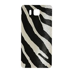 Zebra Print Samsung Galaxy Alpha Hardshell Back Case by NSGLOBALDESIGNS2