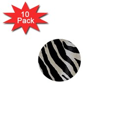 Zebra Print 1  Mini Buttons (10 Pack)  by NSGLOBALDESIGNS2