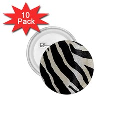 Zebra Print 1 75  Buttons (10 Pack) by NSGLOBALDESIGNS2