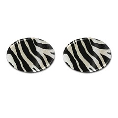 Zebra Print Cufflinks (oval) by NSGLOBALDESIGNS2