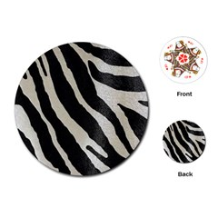 Zebra Print Playing Cards (round) by NSGLOBALDESIGNS2