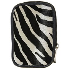 Zebra Print Compact Camera Leather Case by NSGLOBALDESIGNS2