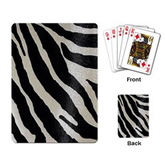 Zebra Print Playing Cards Single Design by NSGLOBALDESIGNS2