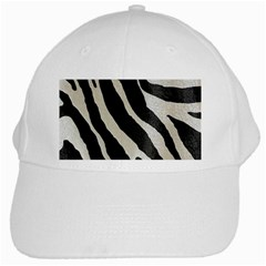 Zebra Print White Cap by NSGLOBALDESIGNS2