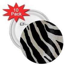 Zebra Print 2 25  Buttons (10 Pack)  by NSGLOBALDESIGNS2