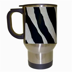Zebra Print Travel Mugs (white) by NSGLOBALDESIGNS2