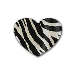 Zebra Print Heart Coaster (4 Pack)  by NSGLOBALDESIGNS2