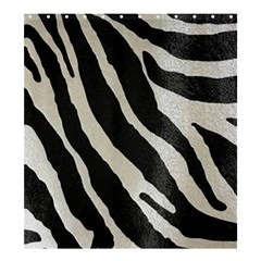 Zebra Print Shower Curtain 66  X 72  (large)  by NSGLOBALDESIGNS2