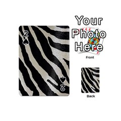 Zebra Print Playing Cards 54 (mini) by NSGLOBALDESIGNS2